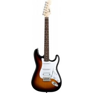 Электрогитара FENDER SQUIER BULLET STRAT TREMOLO HSS RW Brown Sunburst
