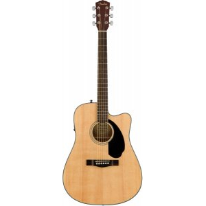FENDER CD-60SCE Natural электроакустическая гитара